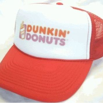 Dunkin' Donuts   Trucker  Hat Mesh Hat  Snap Back Hat