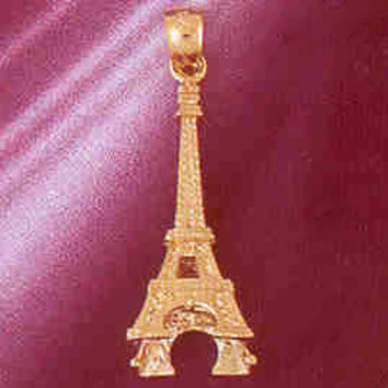 14K GOLD EIFFEL TOWER CHARM/PENDANT 3D # 4915