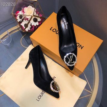Louis Vuitton LV Women Black Fashion Pointed Toe High Heels Shoes