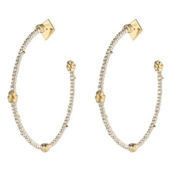 Alexis Bittar Crystal Pavé Knotted Hoop Earrings | Nordstrom