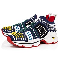 Christian Louboutin Cl 19s Funfor-run Flat Neoprene Version Multi Sneakers