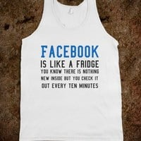 Facebook is like a fridge tank top t shirt