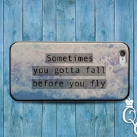 iPhone 4 4s 5 5s 5c 6 6s plus iPod Touch 4th 5th 6th Gen Cool Phone Cover Fall Before You Fly Bird Ocean Life Quote Cute Cool Custom Case