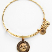 Women's Alex and Ani 'Delta Zeta' Expandable Wire Bangle - Gold