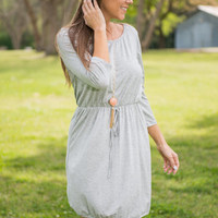 Breeze And Thank You Dress, Heather Gray