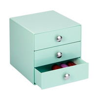 3 Drawer Storage Organizer Solution Mint Color Beauty Makeup Fashion Jewelry Crafts