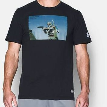Under Armour Mens UA x Star Wars Boba Fett Bounty Hunter T-Shirt SS Tee Black