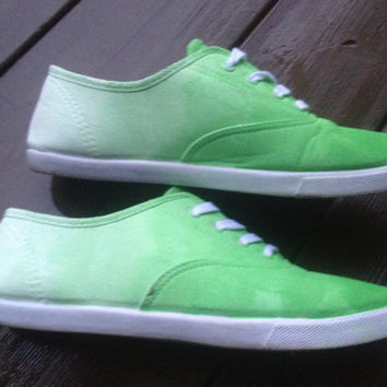 Custom ombre canvas shoes any color by YourUniqueSole on Etsy
