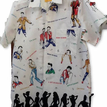 Mens Shirt  in Rockabilly Idol print