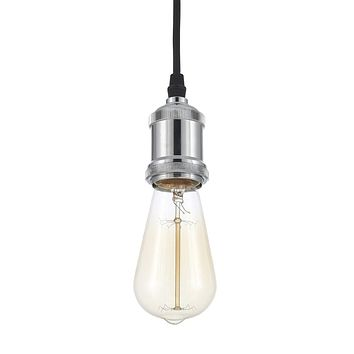 Edison Vintage Cieling Light - Bulb Included, Nickel Chrome