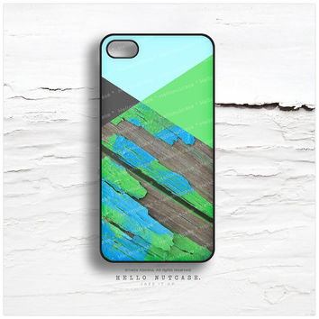 iPhone 6 Case, Phone 5C Case Wood Print, TOUGH iPhone 5s Case Chevron, iPhone 4s Case, Geometric iPhone Case, Green Chevron iPhone Cover T30