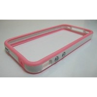 LE White and Pink Premium Bumper Case for Apple iPhone 4 - AT&T