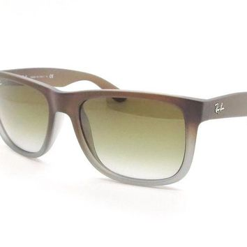 Kalete AUTHENTIC Ray Ban Sunglasses 4165 854/7Z Brown Grey Green Fade New Sunglasses