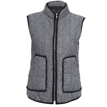 Women Stylish Factory Excursion Quilted Puffer Herringbone Vest