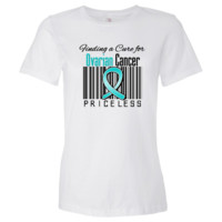 "Finding a Cure For Ovarian Cancer  shirts, apparel and gifts featuring a teal ribbon to call attention to the importance of awareness for Ovarian Cancer brought to you by  cancer survivors and advocates at <b> <a href=""http://www.ovariancancershirts.com"">O"