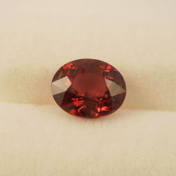 Spinel: 1.26ct Red Oval Shape Gemstone, Natural Hand Made Faceted Gem, Loose Precious Mineral, DIY OOAK Cut Crystal AAA Jewelry Supply 20019