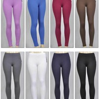 women's light fleece leggings - assorted Case of 144