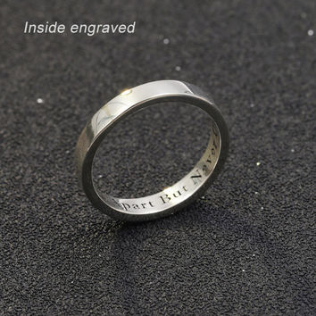 Personalized Custom Name Ring Women 925 Sterling Silver Engagement Ring Custom Name Ring Wedding Female male