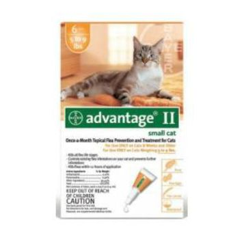 Bayer Advantage II for Small Cats 6 pack