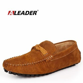 Loafers Driving Shoes Comfortable Spring Autumn Shoes for Man Slip on Boat Shoes Flats
