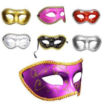 Fashion Men Women Cosplay Costume Prom Mask  Party Dance Masquerade Ball Mask for Halloween Fancy Dress Costume