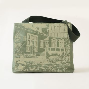 Painted traditional landscape in Sweden Tote