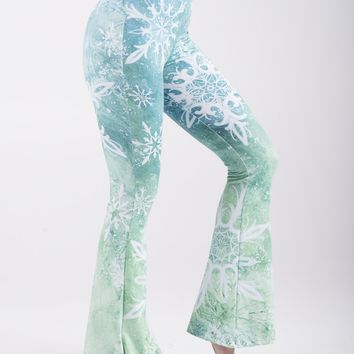 Snowflake Green Bell Leggings