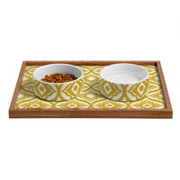 Heather Dutton Trevino Yellow Pet Bowl and Tray