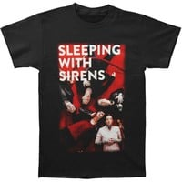 Sleeping With Sirens Men's  Red Carpet T-shirt Black Rockabilia
