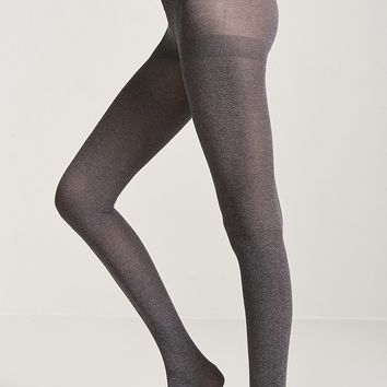 Marled Knit Opaque Tights