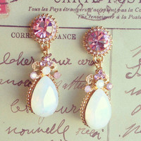 Pree Brulee - Rose Champagne Earrings