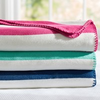 Cottage Stripe Fleece Blanket