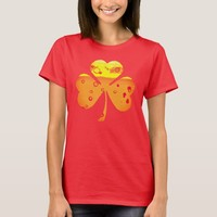 Orange Beer Clover for St. Patricks Day T-Shirt