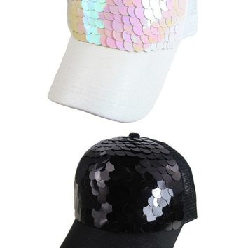 Mermaid Scale Cap