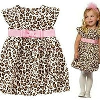 Baby Kids Toddler Girl Princess Leopard Layered Dress Clothes Tutu Sundress 20018|26601 Children's Clothing = 1745705796