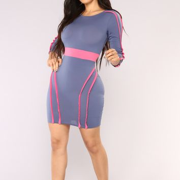 Born To Love You Mini Dress - Denim Blue