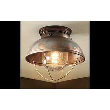 Unique Ceiling Lodge Rustic Country Antique Bronze Copper Lighting Light Fixture
