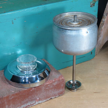 General Electric Pot Belly Percolator Replacement Basket Stem and Lid 33P30 Coffee Pot