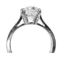 AFS-0051 Micro Pave Diamond Engagement Rings