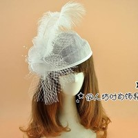 Vintage Feather Hair/Head Bridal Accessories