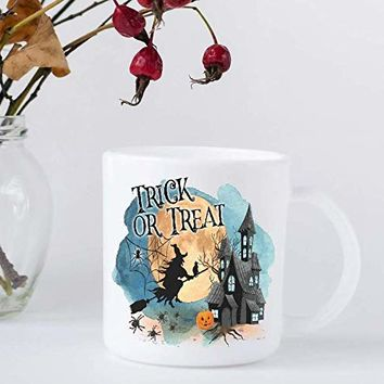 Halloween Coffee Mug - Trick or Treat - Gift for October Birthday