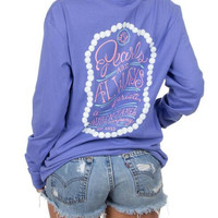 Lauren James Long Sleeve Tee- Pearls are Always Appropriate- FINAL SALE