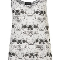 All Over Skull Crop Vest - New In This Week  - New In