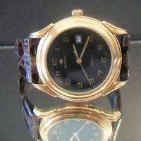 Vintage Breil Griffe 18K Gold Tone Men's Watch 15680 Swiss Made Quartz Water resistant