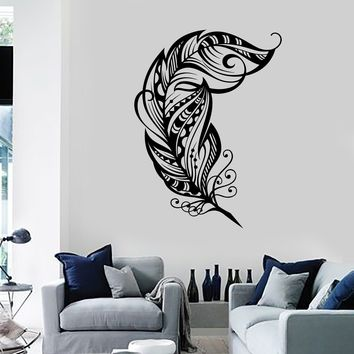 Wall Vinyl Decal Feather Dreamcatcher Dream Catcher Romantic Decor Unique Gift z3689