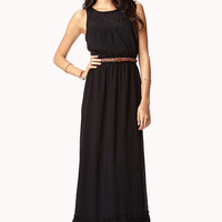 Embroidered Georgette Maxi Dress