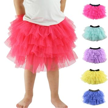 Hot Sale Falda Retail Girls Skirts Trade Explosion Models Baby Skirt Girl Pettiskirt Cake Ballet Tutu Clothing Dance 3-8t