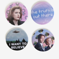 X-Files Pin Pack by The Pulp Girls - One Size / Multi