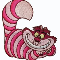 Disney Alice in Wonderland Cheshire Cat Lounging Embroidered Iron On Movie Patch LF13