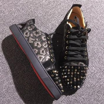 Christian Louboutin CL Low Style #2074 Sneakers Fashion Shoes Best Deal Online